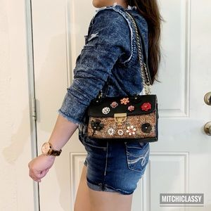 •Topshop•Embellished Floral Shoulder/Crossbody bag